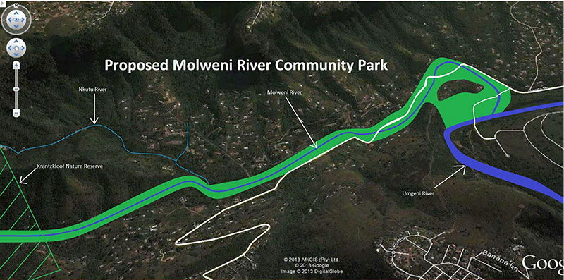 Molweni River Community Park Map