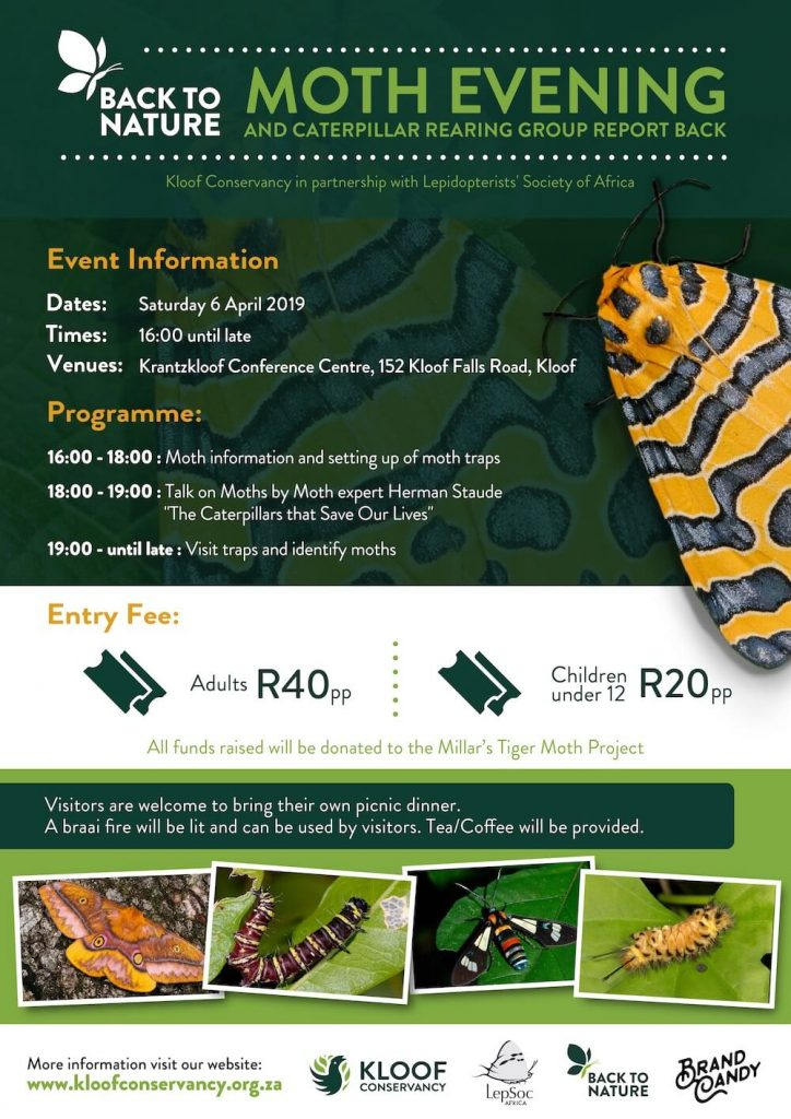 Poster for Back to Nature Moth Evening 2019